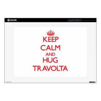 Mantenga tranquilo y abrazo Travolta Calcomanías Para 38,1cm Portátiles