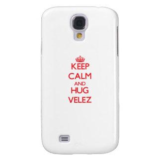Mantenga tranquilo y abrazo Velez Funda Para Galaxy S4