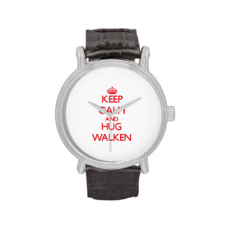 Mantenga tranquilo y abrazo Walken Reloj De Mano