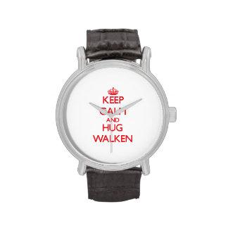 Mantenga tranquilo y abrazo Walken Relojes