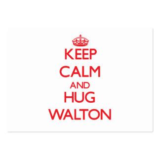 Mantenga tranquilo y abrazo Walton Tarjetas De Visita