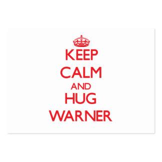 Mantenga tranquilo y abrazo Warner Plantilla De Tarjeta De Negocio