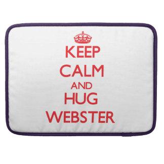 Mantenga tranquilo y abrazo Webster Fundas Para Macbook Pro