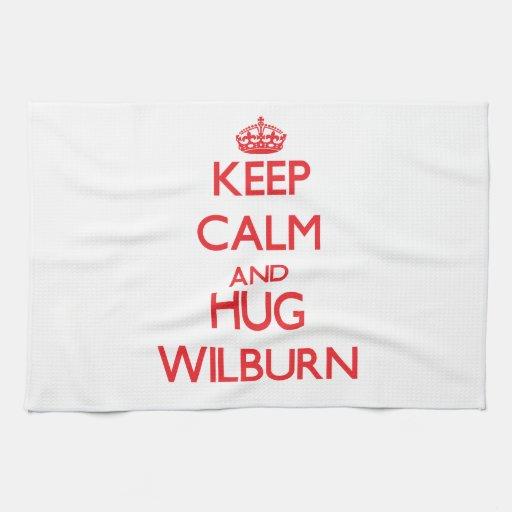 Mantenga tranquilo y ABRAZO Wilburn Toallas De Cocina