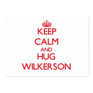 Mantenga tranquilo y abrazo Wilkerson Tarjeta De Negocio
