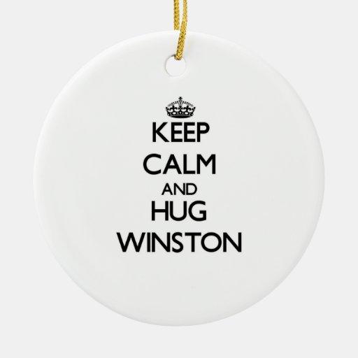 Mantenga tranquilo y abrazo Winston Ornatos