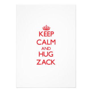 Mantenga tranquilo y ABRAZO Zack Comunicado Personalizado