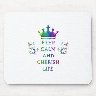 Mantenga tranquilo y acaricie la vida mousepad