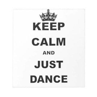 MANTENGA TRANQUILO Y APENAS DANCE.png Bloc De Notas