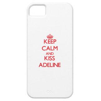Mantenga tranquilo y beso Adelina iPhone 5 Fundas