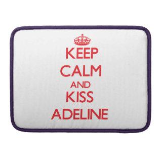 Mantenga tranquilo y beso Adelina Funda Macbook Pro