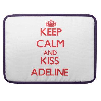 Mantenga tranquilo y beso Adelina Funda Para Macbooks