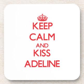 Mantenga tranquilo y beso Adelina Posavasos De Bebidas