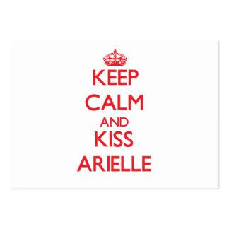 Mantenga tranquilo y beso Arielle Tarjeta Personal