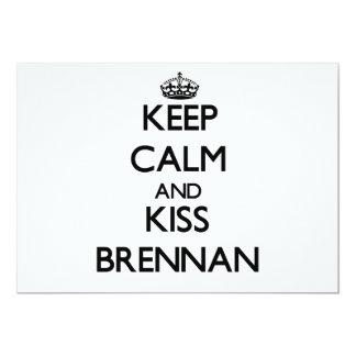 """Mantenga tranquilo y beso Brennan Invitación 5"""" X 7"""""""