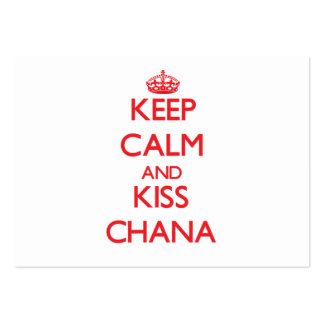 Mantenga tranquilo y beso Chana Tarjetas Personales