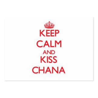 Mantenga tranquilo y beso Chana Tarjetas De Visita