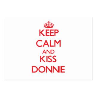Mantenga tranquilo y beso Donnie Plantillas De Tarjetas De Visita