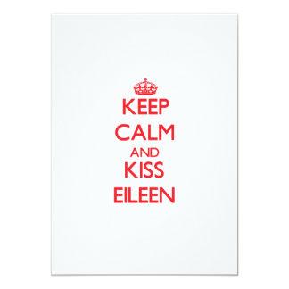 Mantenga tranquilo y beso Eileen Comunicado