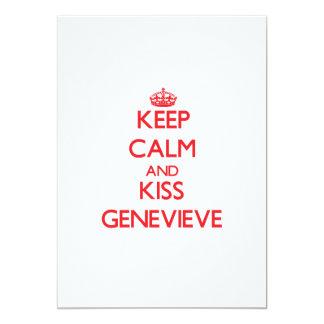 Mantenga tranquilo y beso Genevieve Comunicados Personales