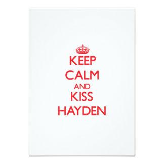 Mantenga tranquilo y beso Hayden Invitaciones Personalizada
