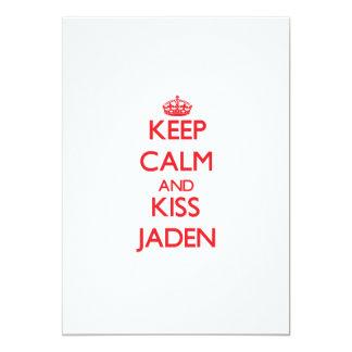 Mantenga tranquilo y beso Jaden Invitaciones Personalizada