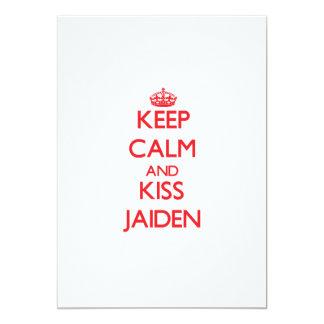 Mantenga tranquilo y beso Jaiden Anuncios