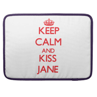 Mantenga tranquilo y beso Jane Funda Macbook Pro