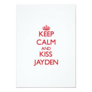 Mantenga tranquilo y beso Jayden Invitación Personalizada