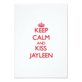Mantenga tranquilo y beso Jayleen Invitación Personalizada