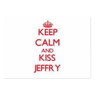 Mantenga tranquilo y beso Jeffry Tarjetas De Visita