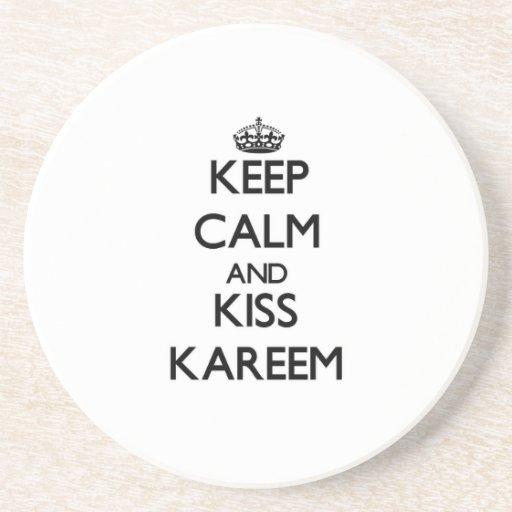 Mantenga tranquilo y beso Kareem Posavasos Personalizados