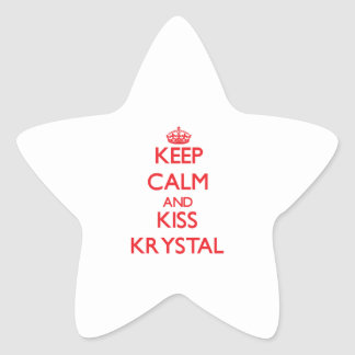 Mantenga tranquilo y beso Krystal Pegatina En Forma De Estrella