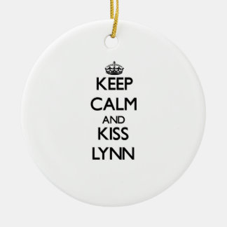 Mantenga tranquilo y beso Lynn Adornos
