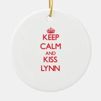 Mantenga tranquilo y beso Lynn Ornamentos De Navidad
