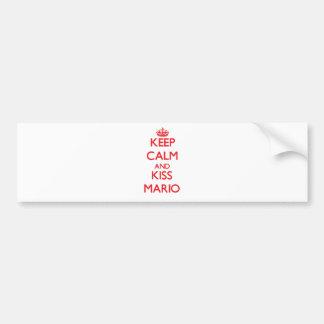 Mantenga tranquilo y beso Mario Pegatina Para Auto