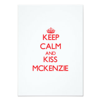 Mantenga tranquilo y beso Mckenzie Anuncio Personalizado