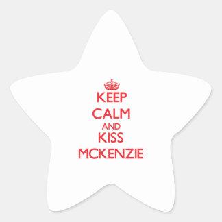 Mantenga tranquilo y beso Mckenzie Calcomanía Forma De Estrella Personalizada