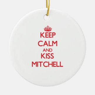 Mantenga tranquilo y beso Mitchell Ornaments Para Arbol De Navidad