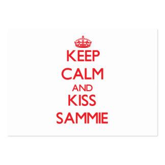Mantenga tranquilo y beso Sammie Tarjetas De Visita Grandes
