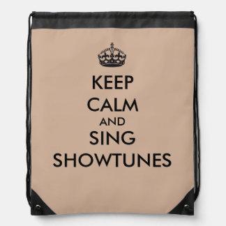 Mantenga tranquilo y cante Showtunes Mochilas