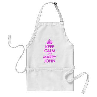 Mantenga tranquilo y case el delantal de Juan