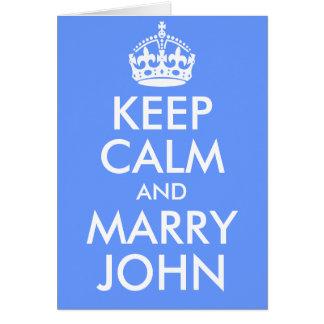 Mantenga tranquilo y case la tarjeta de Juan