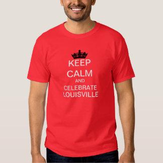 Mantenga tranquilo y celebre la camiseta de la MOD Remeras