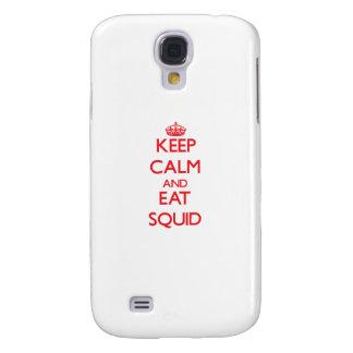 Mantenga tranquilo y coma el calamar funda para galaxy s4