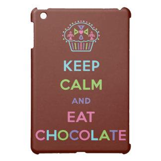 Mantenga tranquilo y coma el chocolate