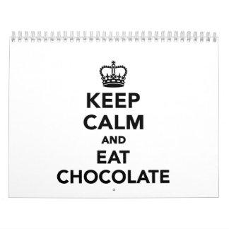 Mantenga tranquilo y coma el chocolate calendarios