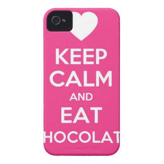 Mantenga tranquilo y coma el chocolate carcasa para iPhone 4 de Case-Mate