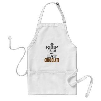 Mantenga tranquilo y coma el chocolate delantal