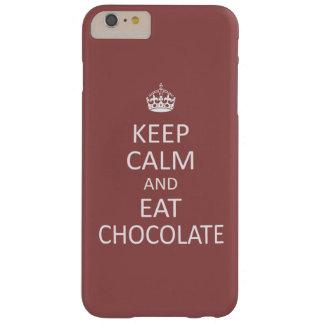 Mantenga tranquilo y coma el chocolate funda barely there iPhone 6 plus